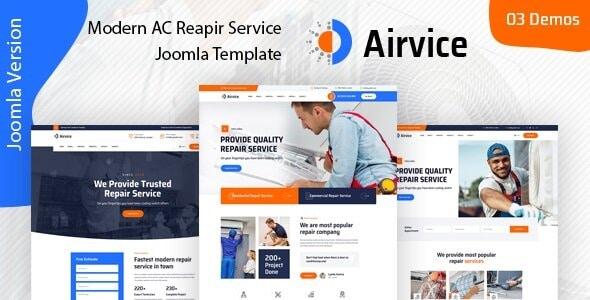 Airvice - AC Repair Services Joomla Template