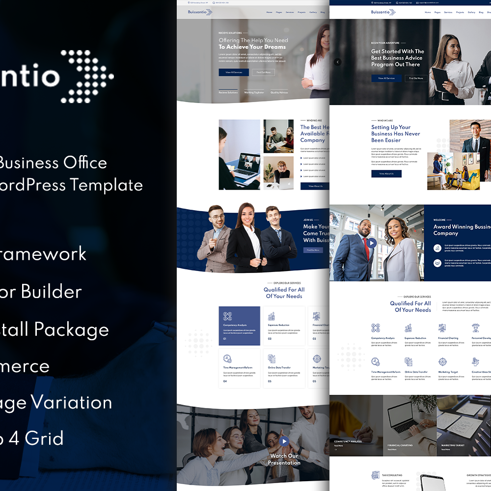 Buissantio - Business & Corporate WordPress Theme