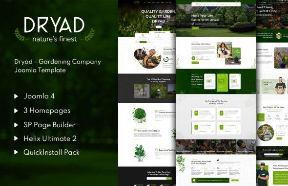 Dryad - Gardening Company Joomla 4 Template